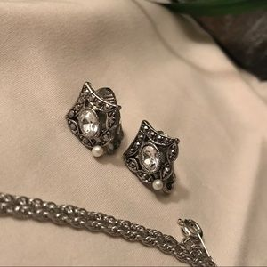 Avon Jewelry - Avon Romantic Accent Necklace & Earrings